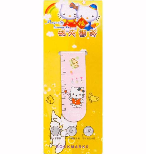 双面磁夹书签 小尺 kitty猫 用品批发中心