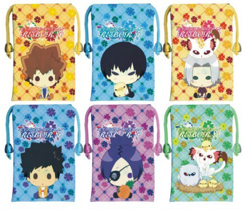 彩色动漫手机袋批发-q版家庭教师027(12个一套)