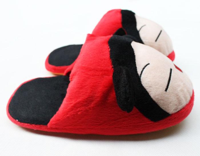 小破鞋牛筋底半包毛绒拖鞋