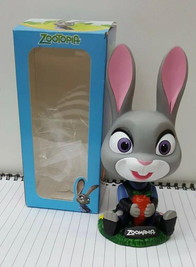 摇头疯狂动物城兔朱迪公仔手办图片