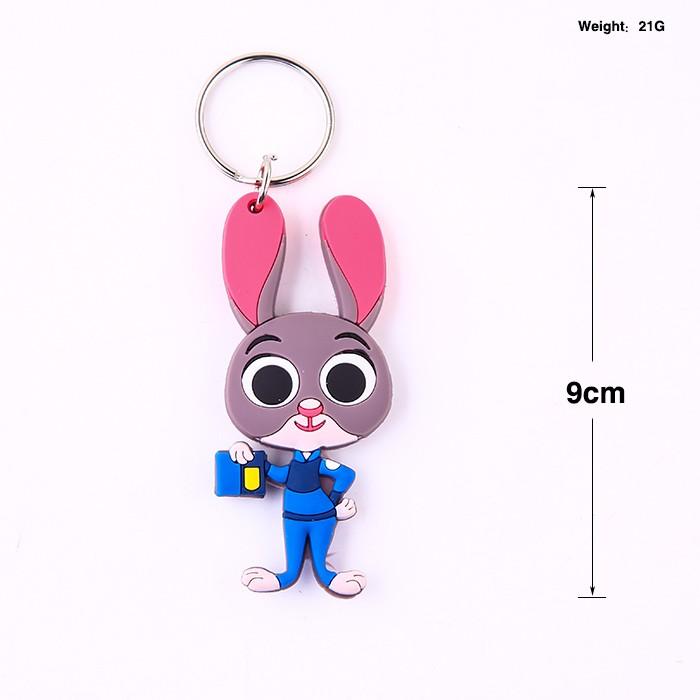 疯狂动物城松鼠硅胶钥匙扣