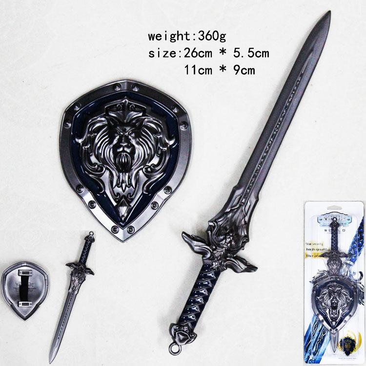 魔兽世界系列剑盾套装a款(古银)