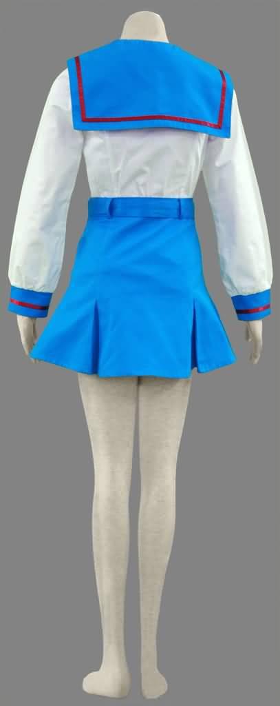 春日的忧郁-北高中学女装冬装校服(女装3件套:水手服,短裙,蝴蝶结)