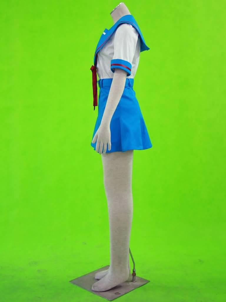 春日的忧郁-北高中学女装夏装校服(女装3件套:水手服,短裙,蝴蝶结)